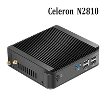 Factory price Celeron Mini PC N2810 DUAL CORE 2.16GHz fanless pc Linux Micro Computer Office 1*USB 3.0 Support windows 7/8.1