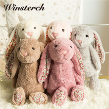 2017 Cute Bunnies Baby Soft Plush Bunny Rabbit Toys Lifelike Plush Stuffed Animals Brinquedos Kids Sleeping Toys Lovely Gifts