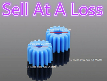 10pcs K028B 2.3/3.17mm Pore 15 Tooth Blue Plastic Shaft Gear DIY Toys Parts Sell At A Loss USA Belarus Ukraine(China)