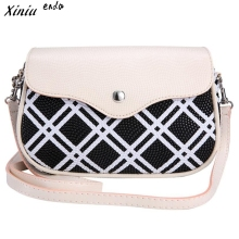 Xiniu Ladies Hand Bags Double Plaid Printing Women Button Hasp Shoulder Bags Messenger Clutch Bolsas De Ombro#2905