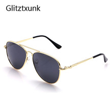 Glitztxunk 2017 New Boys Kids Sunglasses Aviator Style Brand Design Children Sun Glasses 100%UV Protection ,Goggles sunglasses(China)