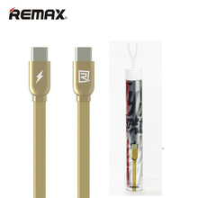 Gold Color 1M REMAX Type-c To Type-c Conversion Line 2A Adapter Data Charging Cable For Type C Android Phone For Macbook