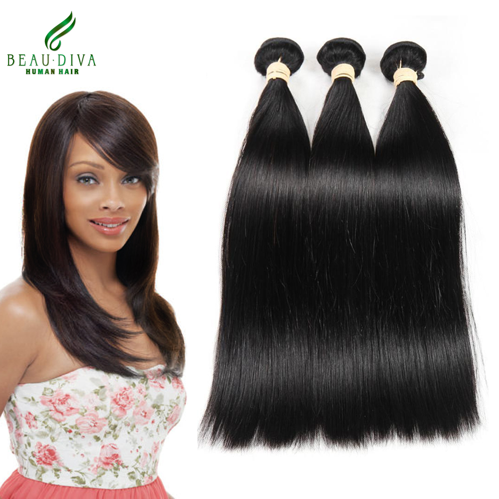 Peruvian Virgin Hair Straight 3Bundles 7A Beau Diva Hair Products Soft Peruvian Straight Virgin Hair 100% Unprocessed Human Hair<br><br>Aliexpress