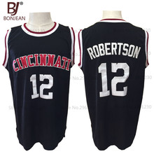 2017 New Cheap Oscar Robertson 12# Cincinnati Bearcats College Throwback Basketball Jersey Black Stitched Retro Mens Shirts(China)