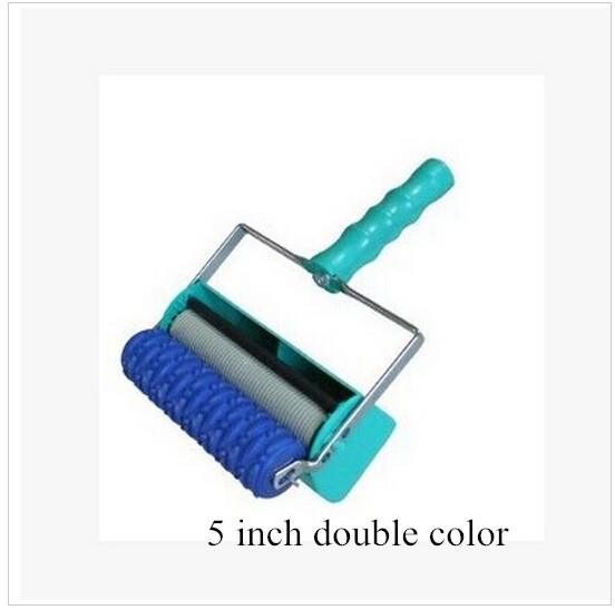 Decoration machine 5 inch Double Color patterned paint roller for wall decorative liquid wallpaper decoration machine EL005I/5-2<br><br>Aliexpress