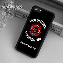 maifengge firefighter volunteer Case For iPhone 6 6S 7 8 Plus X 5 5S SE Case cover for Samsung S5 S6 S7 edge S8 Plus shell(China)