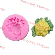 New Arrival 3d vegetable mold silicone cake,cauliflower mold,sugar cooking soap mold