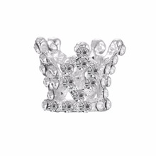 Free shipping mini full round crystal rhinestone tiara crown button flatback 100PCS/lot for hair as gift(BTN-5707)(China)