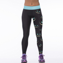 22 Colors Black Cat Eyes Mouth 3D Print Women Sporting Leggings Wicking Fitness Pants Female Force Exercise Clothes Ropa Mujer