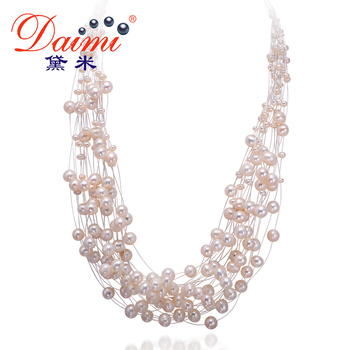 DAIMI 2017 Nouveau Design Collier De Perles De Mode De Luxe de Foulard Conception Blanc Perle Collier De Mariage De Mariée