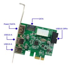 External 2 Port USB 3.0 & Power Over Esata & 19pin USB Header Combo Pci-e PCI Express Card