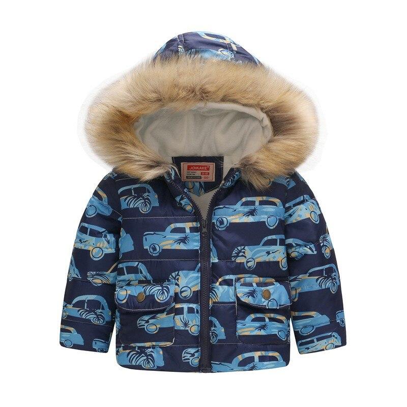 COOTELILI Cute Dinosaur Kids Boys Winter Jacket Cotton Fleece Fur Hooded Parka Baby Boys Coat Outerwear For Children 90-130cm  (3)