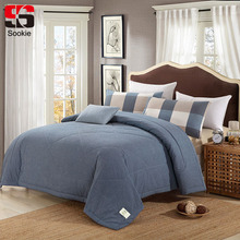 Sookie Summer Cotton Quilted Bedspread Solid Color Air Conditioning Quilt Bedding Sofa Bed Thin Comforter Duvet Blanket Cover(China)