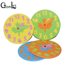 GonLeI send randomly EVA Foam number clock puzzle toys assembled DIY creative educational toys for children baby 1-7 years Z268