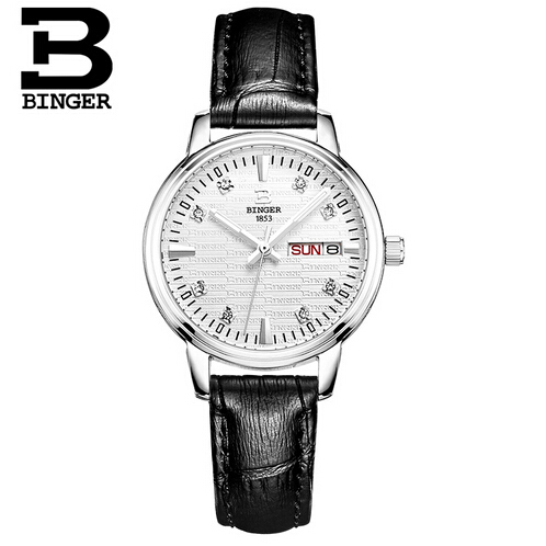 Switzerland Binger Brand Women Watches Crystal Wristwatches Women Dress Watches Gift Woman Fashion Luxury Quartz Watch<br>