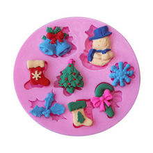 Hot 1PC  DIY 3D Candy Cake Baking Chocolate Fondant Decorating Mould Ice Cube Silicone Forms for Kitchen Cooking Tools 2017