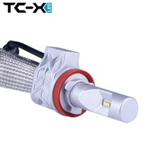 TC-X Lumileds LED Bulbs H11 9006/HB4 9005/HB3 H4 Hi/Lo Car Headlight Kit Dipped Beam Main Beam Fog Light Replacing 55W Halogen