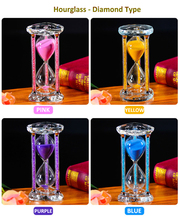 60 Minutes Superior Crystal Hourglass Acrylic Hourglass Timer Clock Ornament Desk The Best Gifts Hourglass