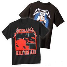 METALLICA T shirt men two sides METALLICA Ride The Lightning Kill Em All cotton printed tee USA plus size S-3XL