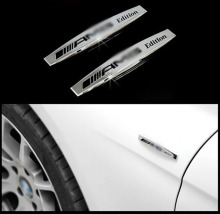 For Benz AMG Mercedes car silver metal decorative decal