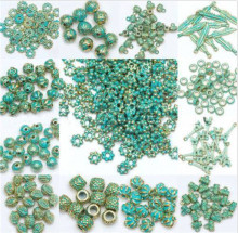 High Quality Green and Gold Retro Tibet Beads Spacer Beads Caps For Jewelry Making DIY 150pcs/lot