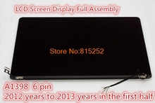 Laptop LCD Module(Touch+LCD Display Screen +Cover+Cable+Hinge) For APPLE A1398 MC975 6 pin/12 pin 2013-2012/2013-2015/2015 year
