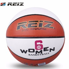 REIZ Official Size 6 Basketball Wear-resistant PU Leather Basketball Non-slip Professional Outdoor Ball With WOMEN Letters(China)