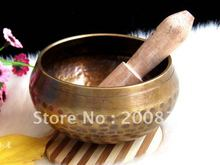 TBC946 Yoga Healing Music Bowl Fine Quality Tibet brass Golden Singing bowl  Hand Hammered Bowls 8.5cm,9.5cm ,11cm Free Shipping