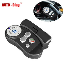 New Steering Wheel Bluetooth Car Kit Support Multi-point Connections Handsfree Phone Call Built-in Microphone Speaker