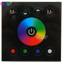 LED Controller Touch Panel RGBW Wall Mounted Color Changable Switch For LED Strip Light Home lamp Lighting DC12-24V
