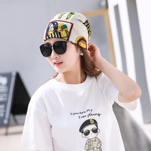 Ladies Vintage Print Hat Autumn Fashion Breathable Ice Silk Bandana For Women Female Headwear Spring Retro Printing Turban Girl(China)