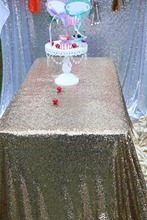 "Sequin Tablecloth Wedding Cake Tablecloth ,Rectangle /square Sequins Table Linen , wedding sequin table linens 90""X90""Black Gold"