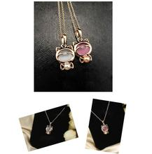 hello kitty necklace new arrivel crystal jewelry free gifts free shipping C356 C357