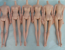 AILAIKI  NEW 20Pcs/lot High Quality Plastic Solid Doll Naked Body For Dolls DIY 12 Joints Doll Body Without Head Wholesale Toy