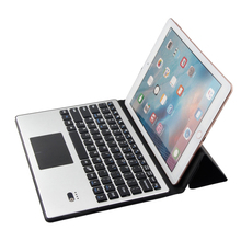 Ultra-thin Wireless For iPad Air 2 iPad 9.7-10.1inch Universal Bluetooth Keyboard Leather Case Cover With touchpad For Laptop PC