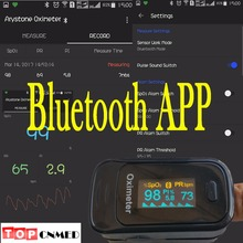 Andriod APP mobilephone Bluetooth 4.0 OLED Fingertip Pulse Oximeter Finger Oximetro pulso Blood Oxygen SpO2 Saturation Monitor