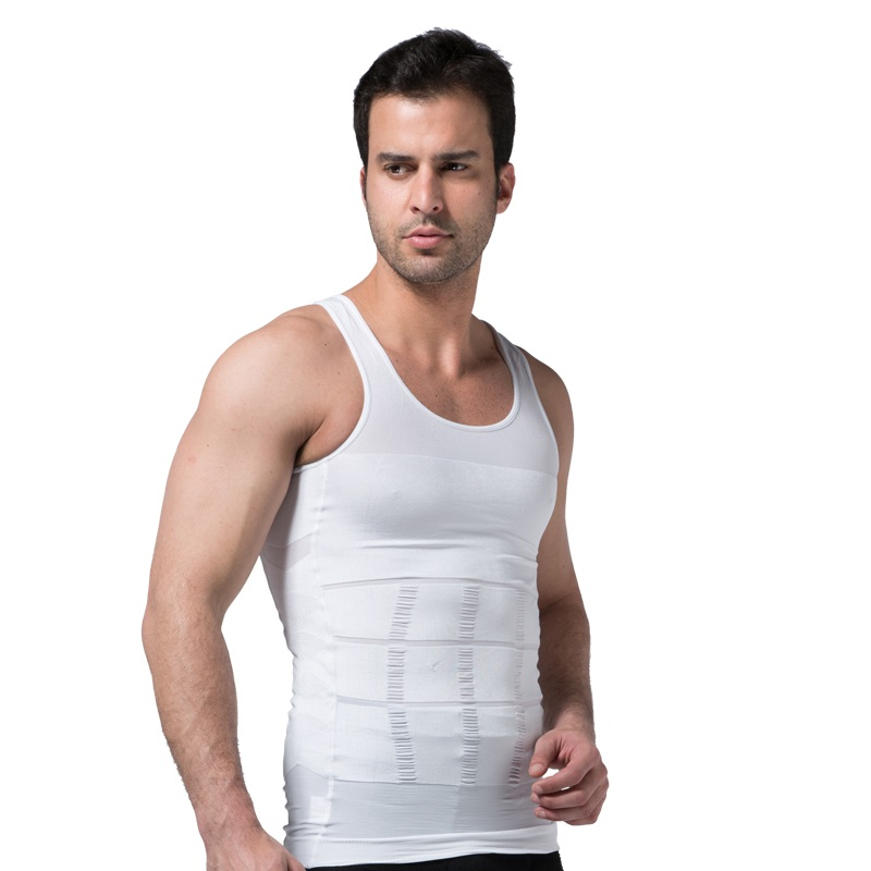 Men Slimming Underwear Body Shaper Waist Cincher Corset Men Shaper Vest Body Slimming Tummy Belly Waist Slim Body Shapewear 5