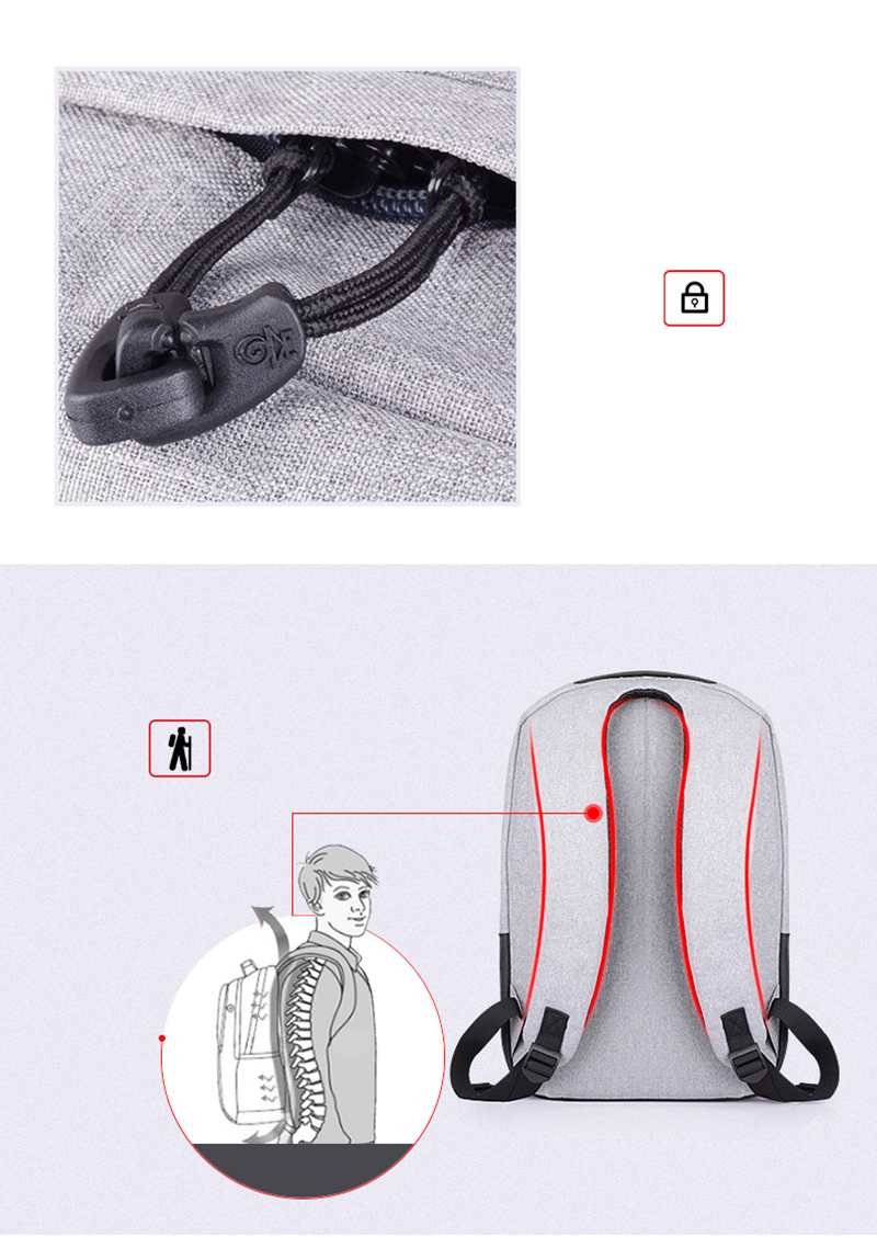 Men Fashion Oxford Backpacks-USB Chargeable Anti-theft Backpacks