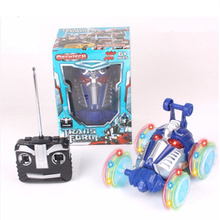RC Car Monster Truck Stunt Radio Electric Dancing Drift Model Rotating Wheel Vehicle Motor Remote Control Toys(China)
