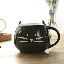 Cat Coffee Milk Cup Light Ceramic Lovers Mug Couples Cups Festival Fashion 420ml Lovely Gift     FP8