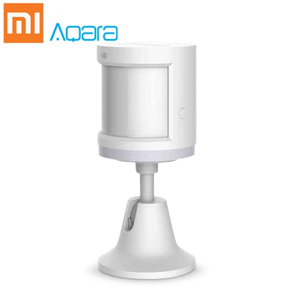 Original Xiaomi Aqara Smart Home Human Body Sensor ZigBee Holder Home 7m Detection Distance Motion Sensor Wireless Mihome App 1