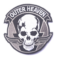 Alloy equipment Outer Heaven embroidery the tactical military patches badges for clothes clothing HOOK/LOOP 8*5*8CM