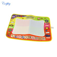 COOLPLAY 45 x 29cm Drawing Toys Board Graffiti Water Doodle Mat Baby Educational Toy with 2 Magic Drawing Pens(China)