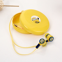 Cartoon earphones hello kitty doraemon mp3 in ear earphones with storage box for iphone samsung xiaomi