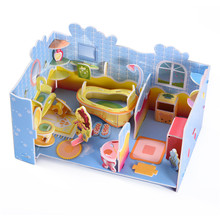 Lovely Bathroom DIY 3D Stereoscopic Puzzles DIY Paper Puzzles Educational Toys Handcraft Toys Jigsaw For early education Child(China)