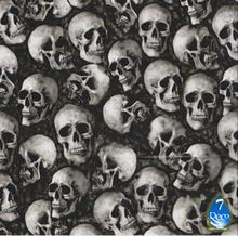 0.5Mx2M, Skull Pattern Water Transfer Printing Film HS83-S, Hydrographi Skull Vinyl Wrap, Motorcycle Parts Supplier