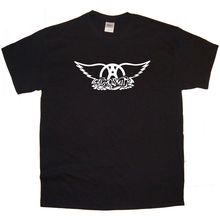 AEROSMITH Band logo Rock Thrash Black HEAVY METAL PUNK POP Summer t-shirt Tee(China)
