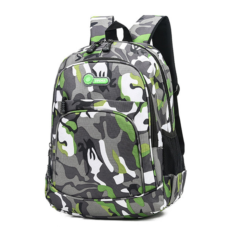 Puimentiua Children Backpack Book-Bag Schoolbag Girls Waterproof Boys Kids Camouflage title=