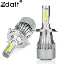 Zdatt 2Pcs Super Bright H4 Led Bulb 80W 8000Lm Car Led Headlight H1 H7 H8 H11 HB3 9005 HB4 12V Moto Auto Fog Lamp Automobiles(China)
