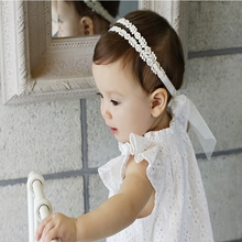 Hot style new children wild gauze bow baby hair accessories headbands DIY jewelry elastic infant headbands 20pcs/lot(China)